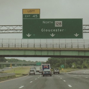 The highway to my hometown in Massachusetts