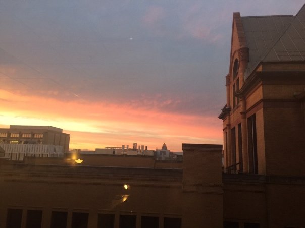 Yesterday's sunset from the office window