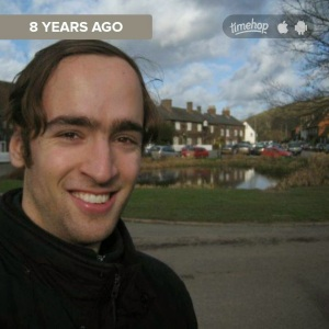 2015 Timehop recollection of a 2007 visit to an AVENGERS filming location in England.